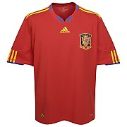 09-10 Spain Home Shirt With World Cup Winners 2010 Embroidery (please click for real image)