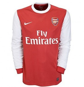 10-11 Arsenal Home Shirt Long Sleeved