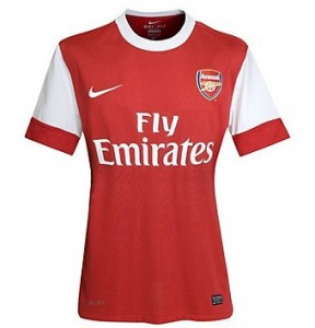 10-11 Arsenal Home Shirt Women