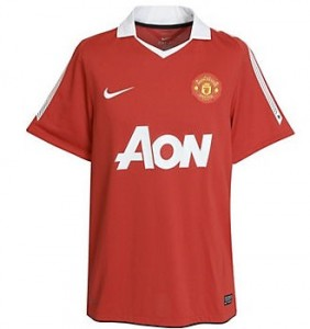 10-11 Manchester United Home Shirt Kids