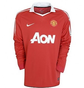 10-11 Manchester United Home Shirt Long Sleeved