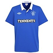 10-11 Glasgow Rangers Home Shirt Kids