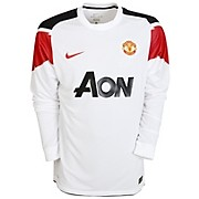 10-11 Manchester United Away Shirt Long Sleeved