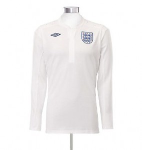 11-12 England Home Shirt Long Sleeved
