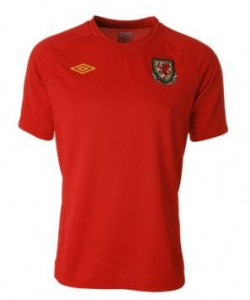 11-12 Wales Home Shirt Kids