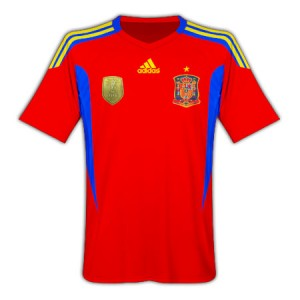 11-12 Spain Home Shirt Kids