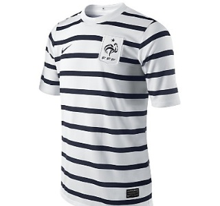 11-12 France Away Shirt Kids