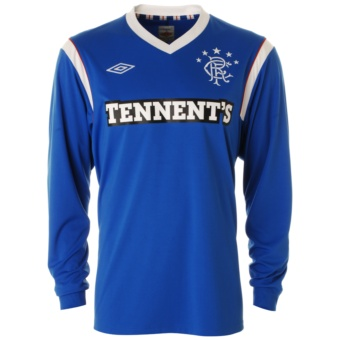 11-12 Glasgow Rangers Home Shirt Long Sleeved