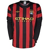 11-12 Manchester City Away Shirt Long Sleeved
