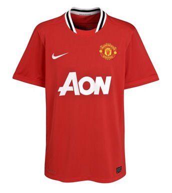 11-12 Manchester United Home Shirt Kids