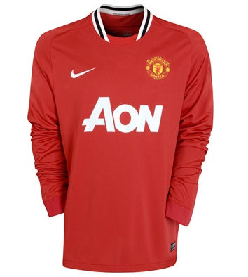 11-12 Manchester United Home Shirt Long Sleeved