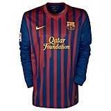 11-12 Barcelona Home Shirt Long Sleeved