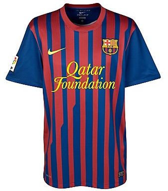 11-12 Barcelona Home Shirt Kids